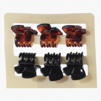 Adore Assorted Floral Hair Clamps - Set of 6