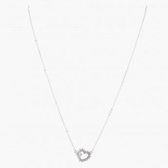 Sasha Heart and Love Pendant Necklace