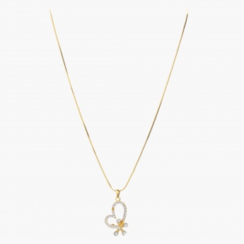 Sasha Heart and Flower Pendant Necklace
