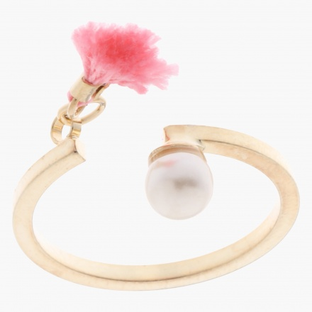 Sasha Pearl and Tassel-embellished Open Ring