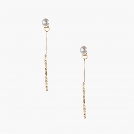 Adore Pearl-embellished Chain Earrings