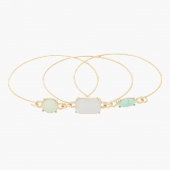 Sasha Embellished Bangles - Set of 3