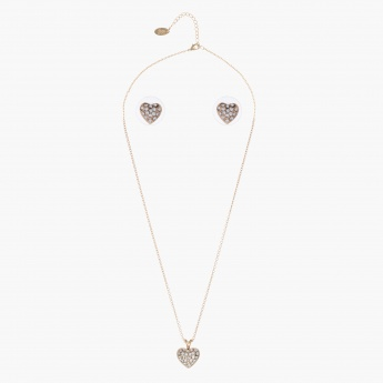 Sasha Heart-shaped Crystal Jewellery Set