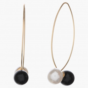 Adore Threader Earrings with Pearls
