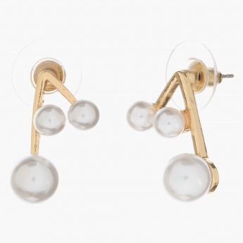 Adore Pearl-embellished Angle Bar Earrings
