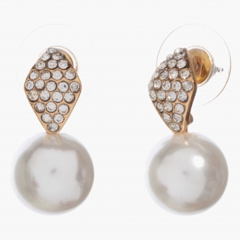 Adore Crystal and Pearl-embellished Drop earrings