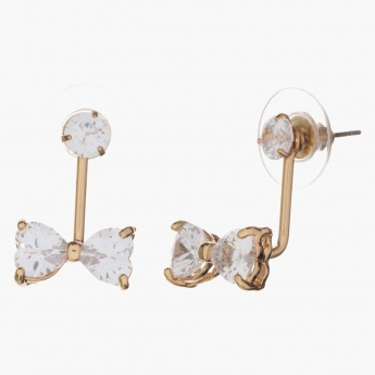 Sasha Bow-embellished Drop Earrings