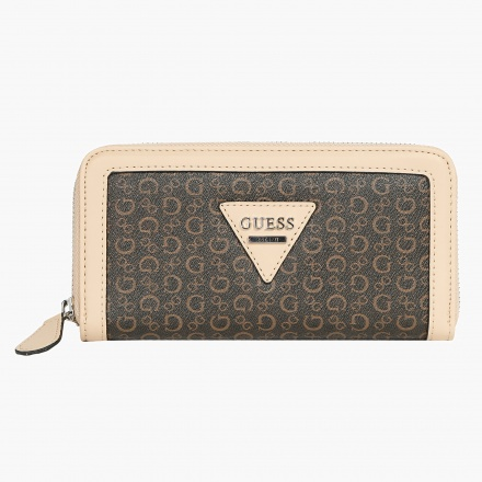 Guess Printed Zip Around Wallet