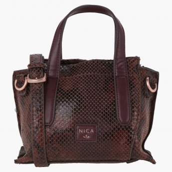 NICA Textured Satchel Bag