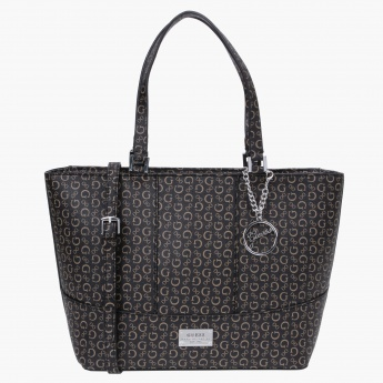 Guess Signature Print Shopper Bag