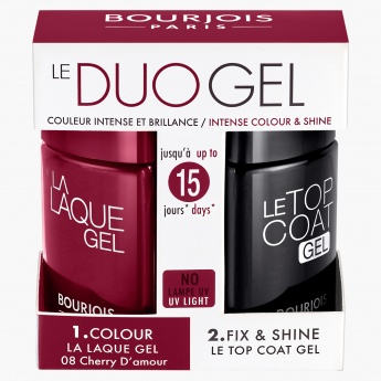 Bourjois Laque Gel Kit and Top Coat Nail Paint
