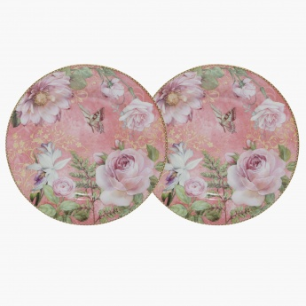 Passion of Rosses Cake Plate - Set of 2