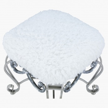Elite d'Art Julienne Fur Ottoman - 44.5x44.5x47 cms