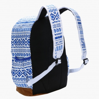 icon Tribal Print Backpack with Pencil Case