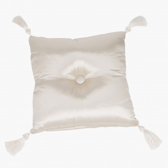 Elite d'Art Textured Cushion with Tassels - 40x40 cms