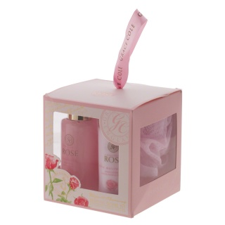 Grace Cole English Rose Elegant Cleansing Bath Set