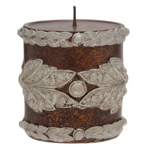 Adore Unscented Leaf Pillar Candle