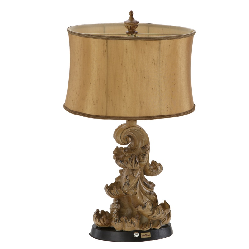 elite d 39 art wooden effect table lamp table lamps. Black Bedroom Furniture Sets. Home Design Ideas