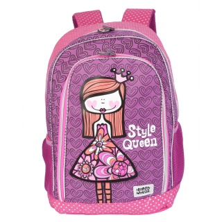 Happy House Printed Backpack