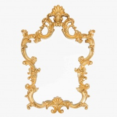 Distressed Gold Frame Mirror - 76x76 cms