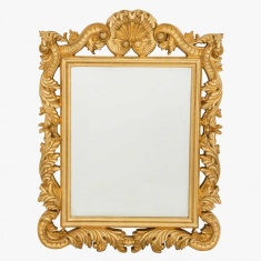 Distressed Gold Frame Mirror - 69x69 cms